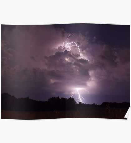 Lightning strike Poster