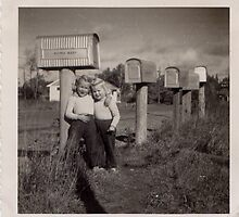 Waiting for the mail, 1953 by roserock