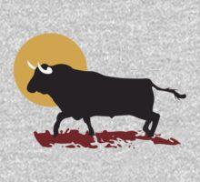 bull and sun One Piece - Short Sleeve