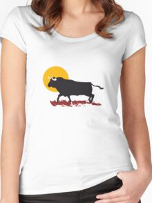 bull and sun Women's Fitted Scoop T-Shirt