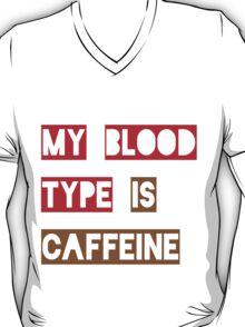 Blood Type Caffeine T-Shirt