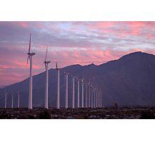 Malibu windfarm Photographic Print