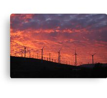 Malibu windfarm sunset-2 Canvas Print
