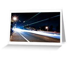 Light Speed Greeting Card