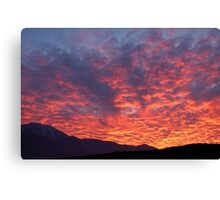 Californian sunset Canvas Print