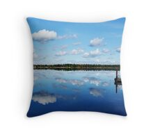 Mirrored Morning - Goose Bay, NY in the Thousand Islands Throw Pillow