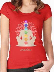 Chakras body Women's Fitted Scoop T-Shirt
