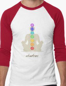 Chakras body Men's Baseball ¾ T-Shirt