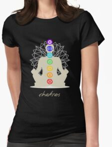 Chakras body Womens Fitted T-Shirt