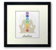 Chakras body Framed Print