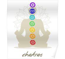 Chakras body Poster