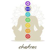 Chakras body Photographic Print