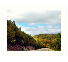 Autumn Drive on the Cabot Trail Art Print