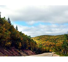 Autumn Drive on the Cabot Trail Photographic Print