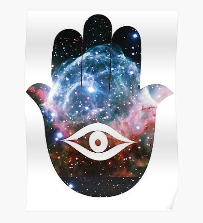 Hamsa   Thor's Helmet Nebula Poster