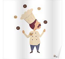 Cookie Moon Juggling Baker Poster