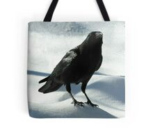 Crow on Snow Tote Bag