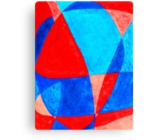 The word LOVE painted abstractly in acrylic. Canvas Print