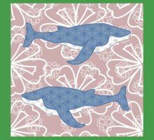 flower whale Kids Tee