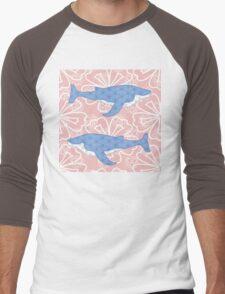 flower whale Men's Baseball ¾ T-Shirt