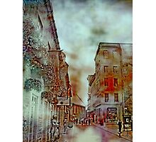 Streets of Quebec City  Photographic Print