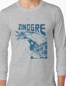Monster Hunter- Zinogre Roar Design Blue Long Sleeve T-Shirt