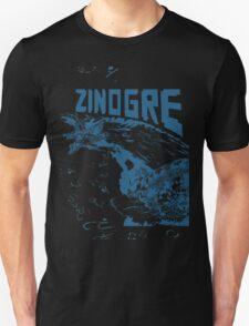 Monster Hunter- Zinogre Roar Design Blue Unisex T-Shirt