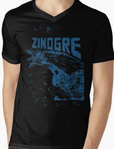 Monster Hunter- Zinogre Roar Design Blue Mens V-Neck T-Shirt