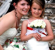 THE BRIDE & FLOWER GIRL by kevsphotos2008