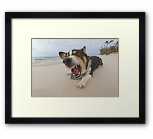 Shark Attack Simulation Framed Print