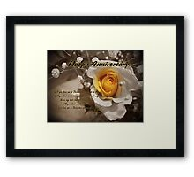 Love Me In December Framed Print
