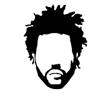 The Weeknd Head Outline Photographic Print