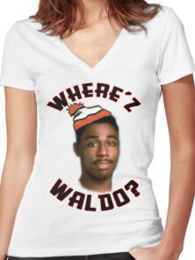 Where's Waldo? by FM Women's Fitted V-Neck T-Shirt