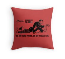 Go To Hell Throw Pillow