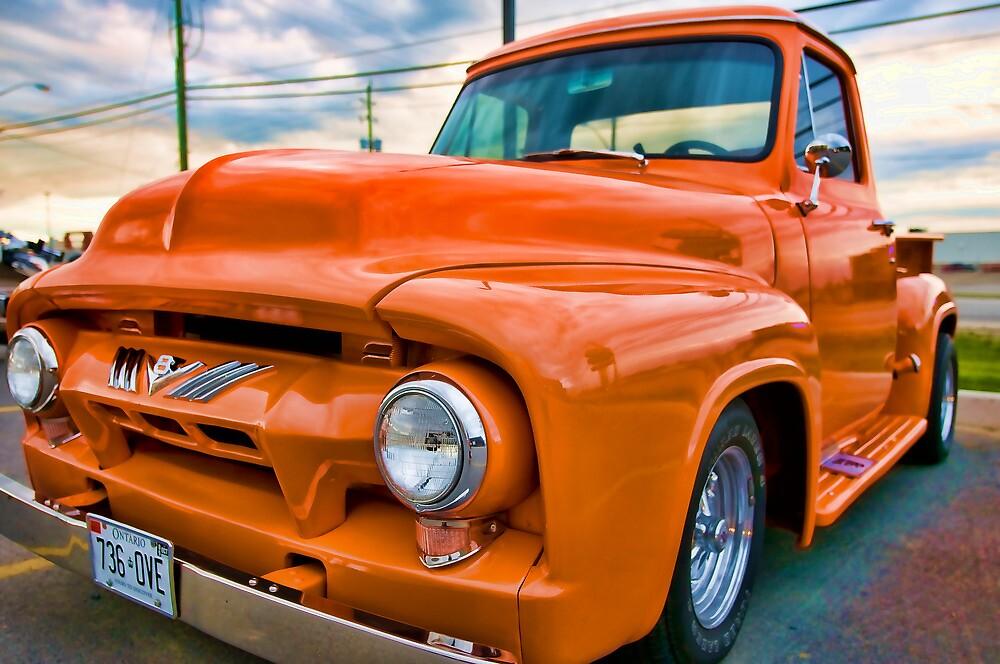 Orange 'Hotrod' Ford by THECUCKOOPHOTOG
