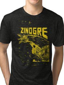 Monster Hunter- Zinogre Roar Design Yellow Tri-blend T-Shirt