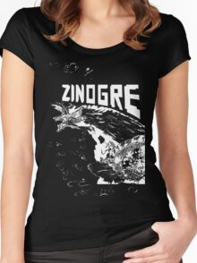 Monster Hunter- Zinogre Roar Design White Women's Fitted Scoop T-Shirt