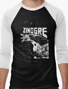 Monster Hunter- Zinogre Roar Design White Men's Baseball ¾ T-Shirt