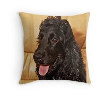 Black Cocker Spaniel Throw Pillow
