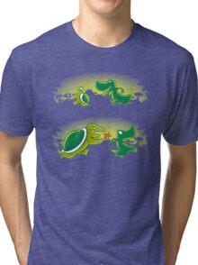 Turtle vs T-rex Tri-blend T-Shirt
