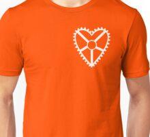 Heart Crank, Small White Unisex T-Shirt