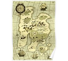 Treasure Map Poster