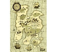 Treasure Map Photographic Print