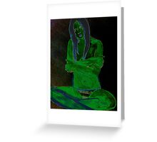 Reptile Girl Greeting Card