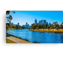 Rowers on the Yarra, Melbourne Canvas Print
