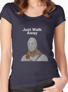 "Humongous- ""Just Walk Away"" - Road Warrior Women's Fitted Scoop T-Shirt"