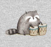 Raccoon on Bongos Kids Clothes