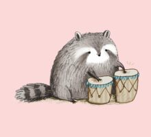 Raccoon on Bongos Kids Clothes