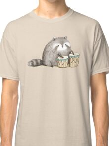 Raccoon on Bongos Classic T-Shirt