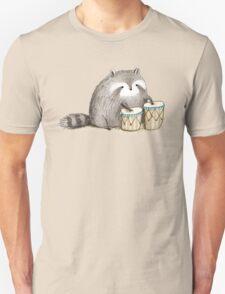 Raccoon on Bongos Unisex T-Shirt